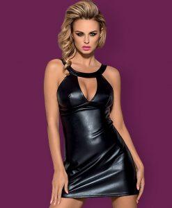 Кожена рокля Obsessive