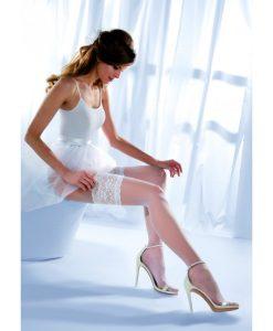 Бели силиконови чорапи