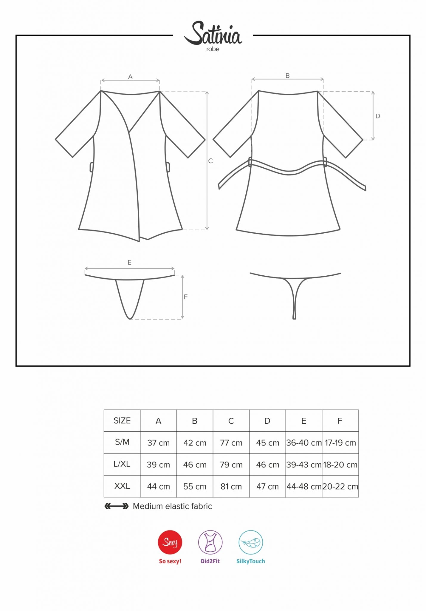 Сатенен халат с бродерия