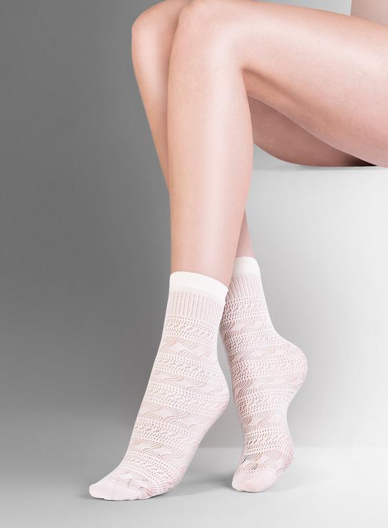 Къси фигурални чорапи ликра