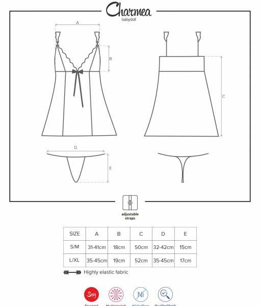 Size chart Charmea babydoll